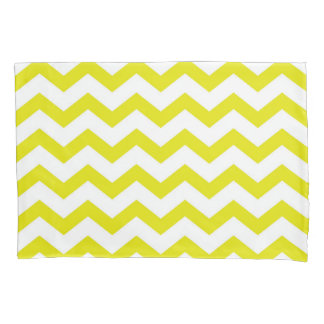 Lemon Yellow Chevrons Pillowcase