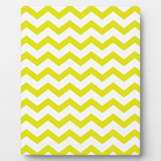 Lemon Yellow Chevrons Plaque