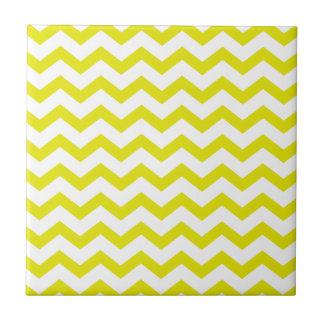 Lemon Yellow Chevrons Tile