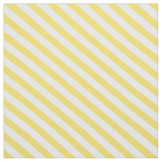 Lemon Yellow Diagonal Stripes Fabric