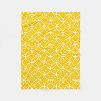 Lemon Yellow Fleece Blanket