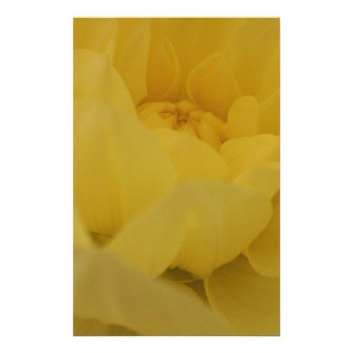 Lemon Yellow Flower Stationery Paper