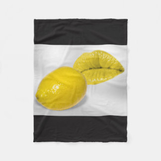 Lemon-yellow fruit KIS Fleece Blanket