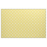 Lemon Yellow Geometric Pattern Fabric