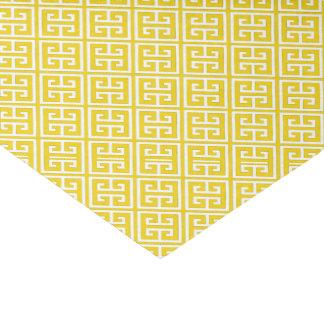 Lemon Yellow Greek Key Pattern Tissue Paper