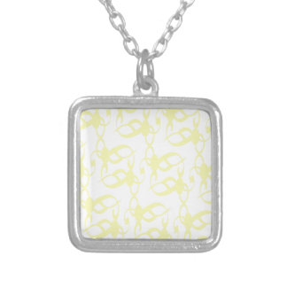 Lemon Yellow Lace Silver Plated Necklace