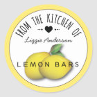 Lemon Yellow Modern From the Kitchen of Label