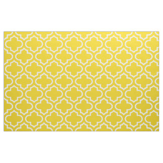 Lemon Yellow Moroccan Trellis Pattern Fabric 02