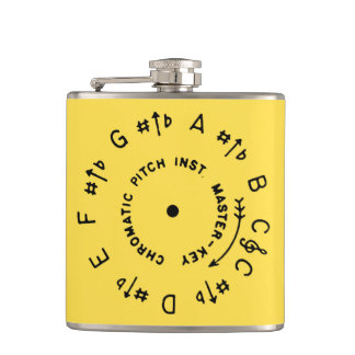 Lemon Yellow Pitchpipe Hip Flask
