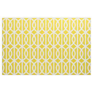 Lemon Yellow Trellis Pattern Fabric