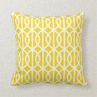 Lemon Yellow Trellis Pillow
