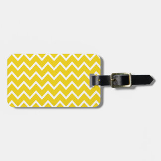 Lemon Yellow Zig Zag Chevron Luggage Tag