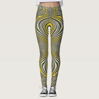 Lemon Zebra Leggings
