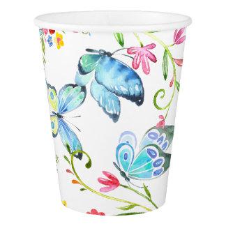 Lemonade and butterflies Custom Paper Cup 9oz