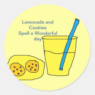 Lemonade and Cookies Round Sticker