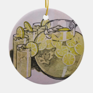 Lemonade Ceramic Ornament