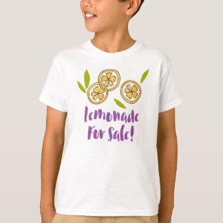 """Lemonade For Sale"" Lemonade Stand Kids' TS06 T-Shirt"