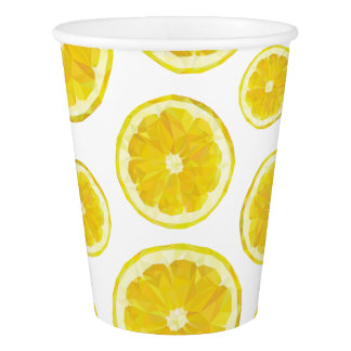 Lemonade fruit stand modern design paper cups. paper cup