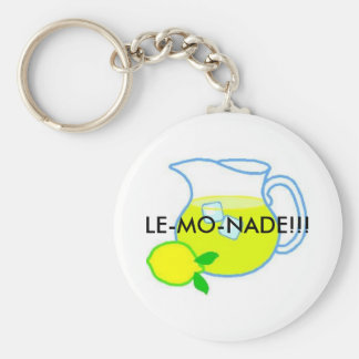 Lemonade, LE-MO-NADE!!! Basic Round Button Keychain