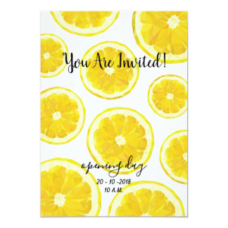Lemonade Opening Day Invitation. Fruit stand card
