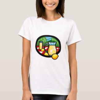 Lemonade Picnic Pitcher Lemons Gingham Check T-Shirt