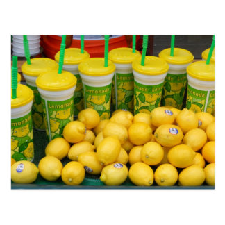 Lemonade Stand Cups and Lemons Festival Photograph Postcard