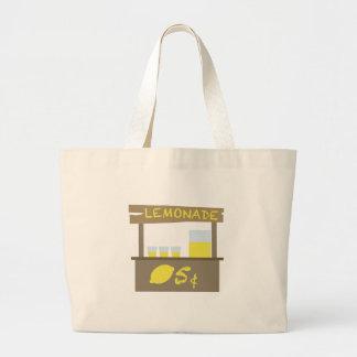 Lemonade Stand Large Tote Bag