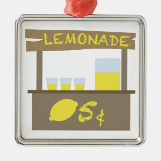 Lemonade Stand Metal Ornament