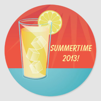 Lemonade Summertime Party Stickers