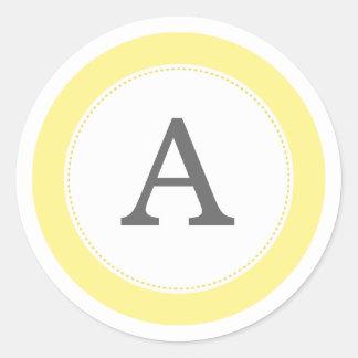 Lemonade Yellow Round Sticker