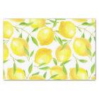 Lemons and leaves  pattern design tissue paper