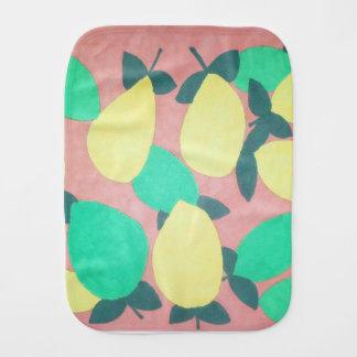 Lemons and Limes Citrus Fresh Pattern Burp Cloth