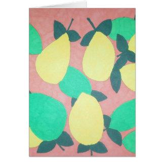 Lemons and Limes Citrus Fresh Pattern Card