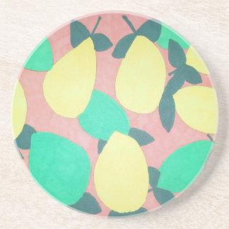 Lemons and Limes Citrus Fresh Pattern Coaster