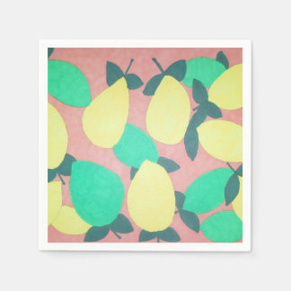 Lemons and Limes Citrus Fresh Pattern Disposable Napkins