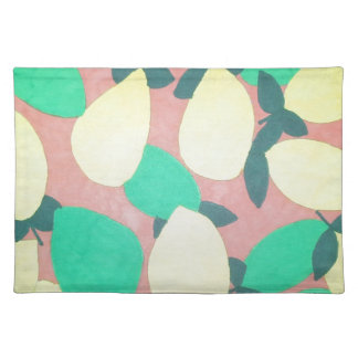 Lemons and Limes Citrus Fresh Pattern Placemat