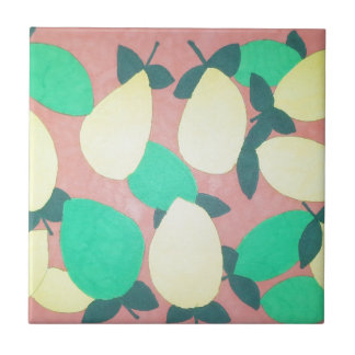 Lemons and Limes Citrus Fresh Pattern Tile