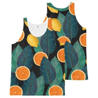 lemons and oranges black All-Over-Print tank top