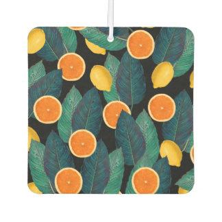lemons and oranges black car air freshener