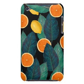 lemons and oranges black Case-Mate iPod touch case