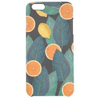 lemons and oranges black clear iPhone 6 plus case