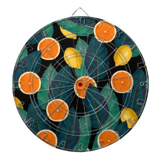 lemons and oranges black dartboard
