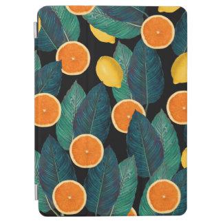 lemons and oranges black iPad air cover