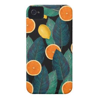 lemons and oranges black iPhone 4 Case-Mate case