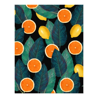 lemons and oranges black letterhead