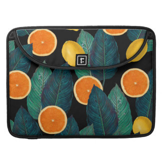 lemons and oranges black sleeve for MacBook pro