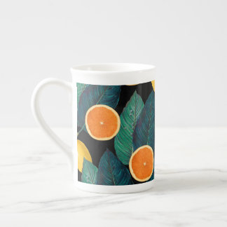 lemons and oranges black tea cup