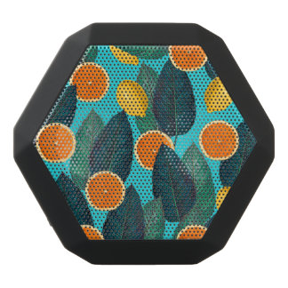 lemons and oranges teal black bluetooth speaker