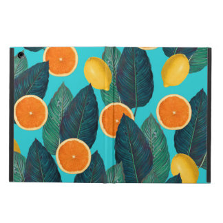 lemons and oranges teal iPad air case