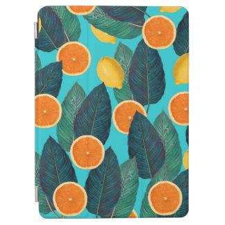 lemons and oranges teal iPad air cover